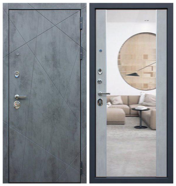 Входная дверь в квартиру с зеркалом СП163