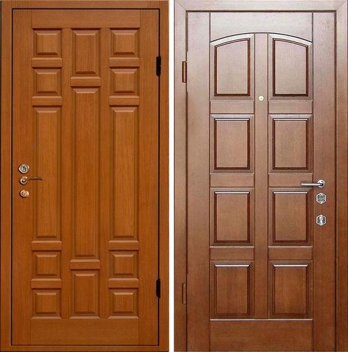 Входная дверь МДФ ПВХ / МДФ шпон СП235