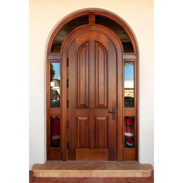 Арочная входная дверь Филенчатый МДФ со стеклопакетом СП425