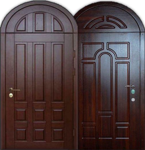 Входная металлическая дверь арочная СП321