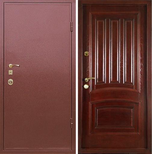 Входная металлическая дверь порошковое напыление и МДФ СП026