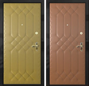 Входная металлическая дверь винилискожа с рисунком СП288