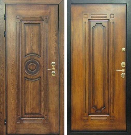 Входная металлическая дверь массив дуба СП322